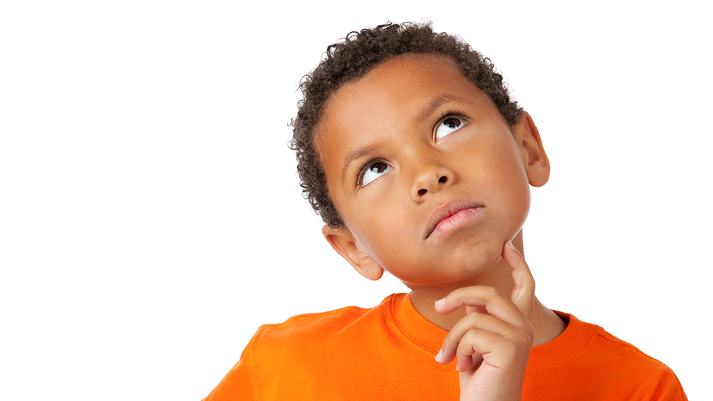 Boy thinking about healthy choices
