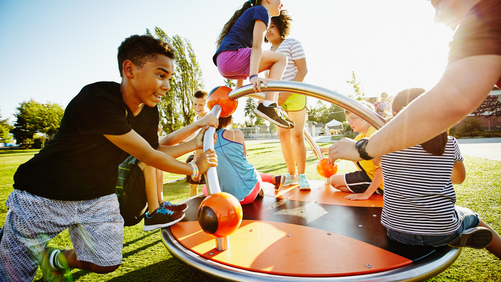 Children playing on a playground - Sanford fit